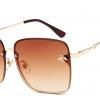 lunettes oversisez carrées doré et marron gucci replica