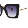 Lunettes de soleil femmes classiques carrées - vertla petite touche glamour