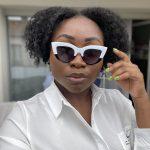 lunettes yeux de chat monture épaisses blanche vintage pour les femmes